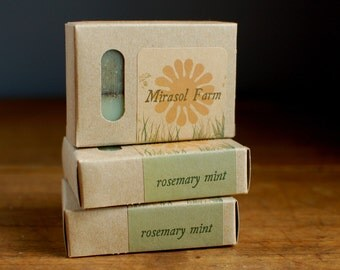 Rosemary Mint - organic shampoo and body soap. Biodegradable and eco-friendly.