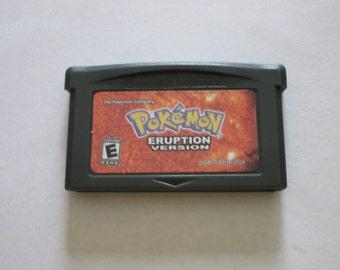 GBA Pokemon Eruption fan made game cartridge Gameboy Advance hack