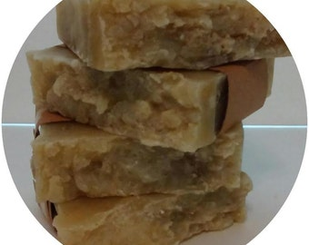 All-natural handmade Oatmeal and Mango Butter soap