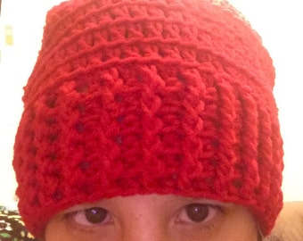 Over-sized Crochet Hat