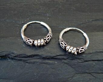 3x16 mm Sterling Silver Hoop Earrings - Silver Hoop Earrings,Tiny Hoop Earrings, Hoop Earrings - Small Hoop Earring - Silver Hoop Tiny,049H