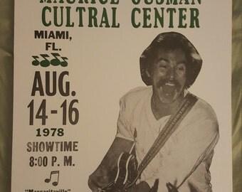 Jimmy Buffet  concert  poster