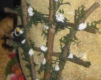 Miniature Twig Trellis, Handmade, Fairy Garden