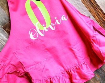 Little Chef, Personalized Girls Apron