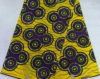 African print fabric / 6 yards per peice