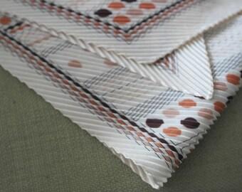 Vintage long pleated scarf