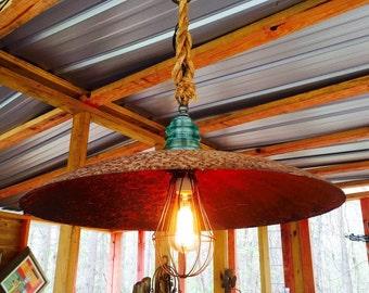 Antique plow disc light