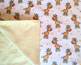 Giraffe Flannel Baby Blanket