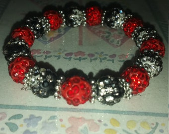Red and Black Statement Piece