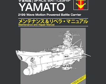 Space Battleship Yamato Service and Repair Manual LADIES FIT T-shirt - Japanese Anime Manual Clothing