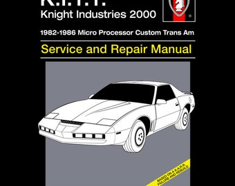 K.I.T.T. Service and Repair - Knight Rider T-Shirt -  1980's TV Parody Clothing