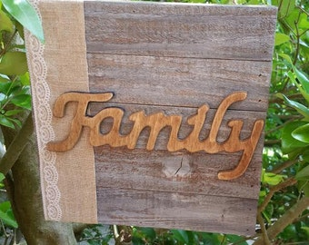Wooden Family sign - Family sign - country - primitive - wood sign
