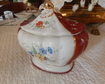 bonbonniere signed old hand painted porcelain
