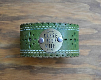 Chase Your Wild Leather Cuff