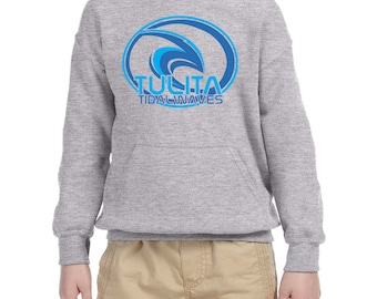 Tulita Tidal Waves Youth Sweatshirt, Tulita Elementary, Spirit Wear, Youth Hooded Sweatshirt, Redondo Beach Tulita Elementary, School Spirit