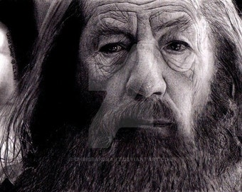 Drawing of Gandalf - Fine art reproduction