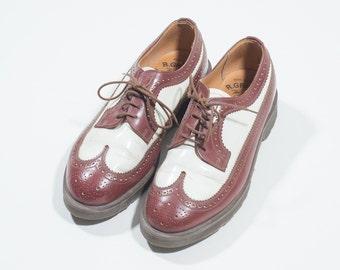 DR MARTENS - Leather bicolor shoes