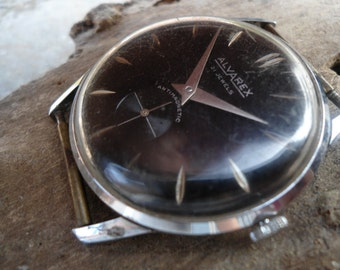 ALVAREX, Vintage watch, Swiss made watch, retro watch, mechanical watch, Incabloc watch, Antimagnetic watch, for parts/repair, collectible