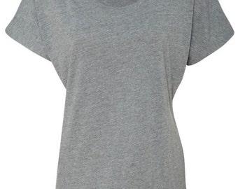 Custom women's flowy graphic tee, funny women's tshirts, christmas holiday birthday gift custom t-shirt, custom women's graphic tees text