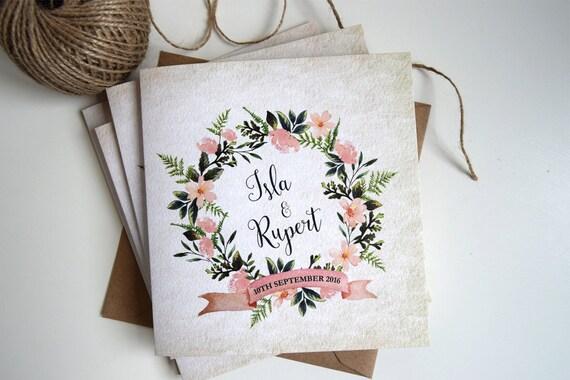 Rustic Wreath & Burlap Wedding Invitation Sample