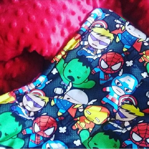 Small child comforting weighted blanket Kawaii super heros Avengers cotton 6lbs