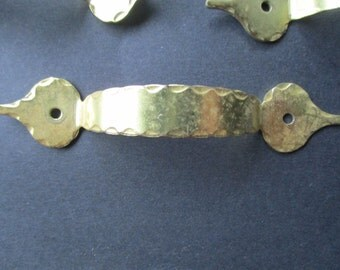 7 for GOOD LUCK!  7 Vintage Brass Handles, Drawer Handles