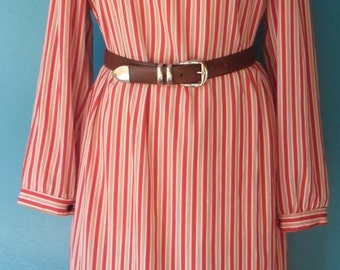 Red and white striped dress Vintage