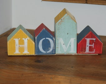Rustic Painted Home decor Ornament - Home