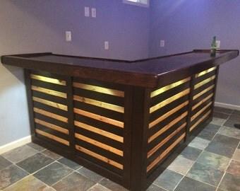 pallet bar etsy. Black Bedroom Furniture Sets. Home Design Ideas