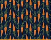 Carrots in Navy from the Gardening Collection by Dinara Mirtalipova for Windham Fabrics