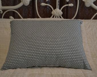 Optical Illusion Blue Decorative Pillow