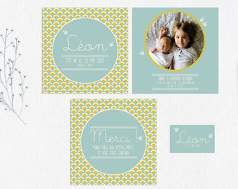 Little Boy birth announcement & stationery