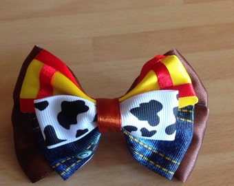 Woody toy story regular hair bow