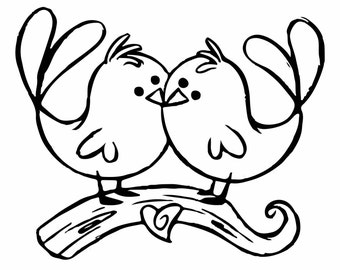 Love Birds Decal/ Sticker