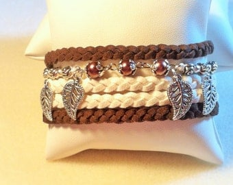 "Bracelet ""Brown feathers"""