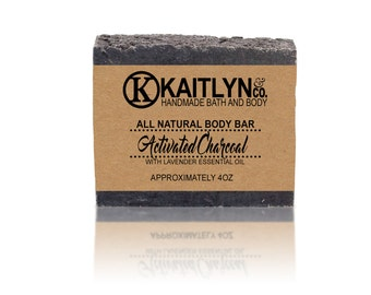 Activated Charcoal Soap, Lavender Soap, All Natural, Handmade, Vegan