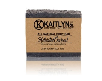 Activated Charcoal Soap, Unscented Soap, All Natural, Handmade, Vegan