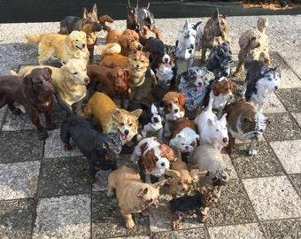 Handpainted Custom Dog Sculpture