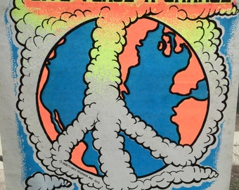 Give Peace A Chance Vintage 1973 Holoubek Studios Iron On Heat Transfer