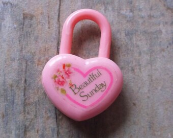 SUMMER SALE. RARE Kutsuwa Beautiful Sunday Pink Padlock