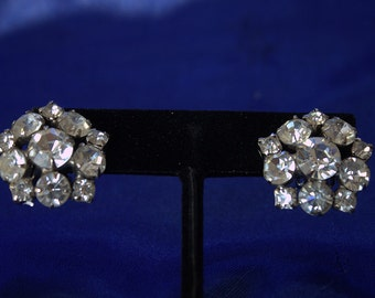 Vintage Crystal Earrings - 2 pairs