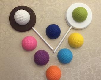 GOLF BALL ChocolateLollipops(12 qty)-Miniature Golf Party/Golf Ball/Golf Birthday Party/Sports Party/Golf Party/Birthday Party/Father's Day