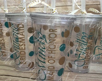 Bridal Party Personalized Tumbler