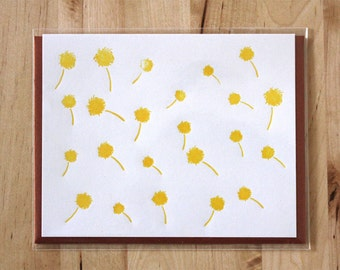 Dandelion Letterpress Greeting Card