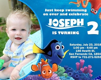 Finding Dory Invitation Finding Nemo Invitation, Finding Dory Birthday Party
