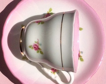 Pretty in Pink- Royal Stafford Teacup and Saucer
