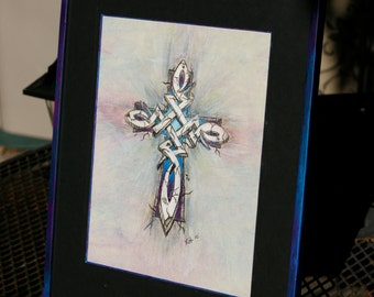 Cross Original Framed Painting