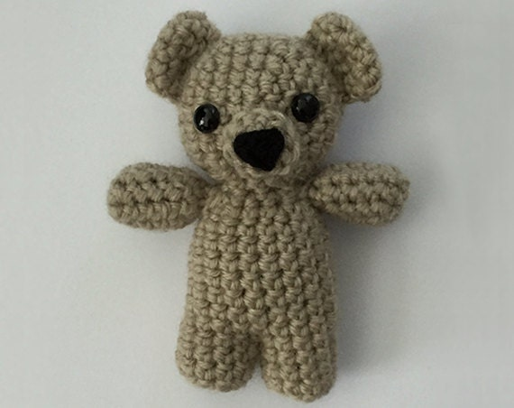 Grey Bear Amigurumi Crochet Pattern : Amigurumi Teddy Bear Crochet Bear Minature by ...