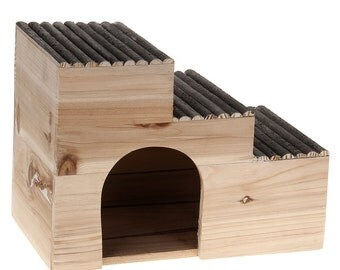 Small Pet Hamster Guinea Pig Rabbit Wood House Cage Kennel