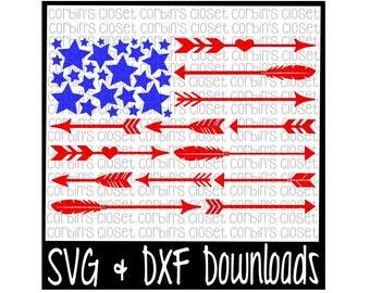 Arrow Flag Cut File - DXF & SVG Files - Silhouette Cameo, Cricut
